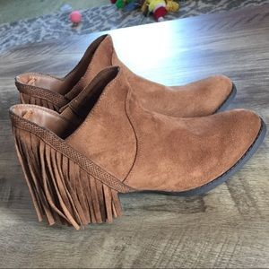 Faded Glory Fringe Booties